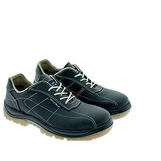 Aboutblu 2511636LA S3 SRC DGUV 112-191, Tropea, Water Repellent Safety Shoe, Unisex, Green, Leather, Size 37