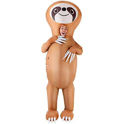 Frauen Kostüm Faultier - Morph MCGISL Aufblasbares Kostüm Unisex, Faultier Einheitsgröße Erwachsene