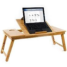 """Aleratec de bambú de la tableta del ordenador portátil hasta 15 """" Cooling Stand Con Ventilador de mesa de escritorio"""