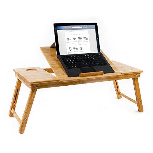 Bambus Tablet Laptop Cooling Stand zu 15in oben mit Ventilator, Tisch, Schreibtisch (Verstellbare Klapp-laptop-tisch)