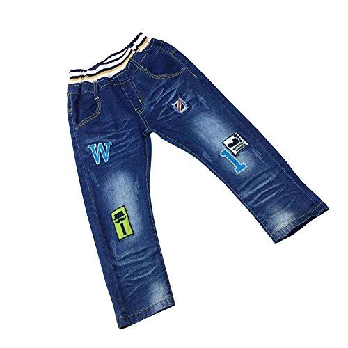 Zier Bambini Lungo Del Denim Dei Jeans Mutanda Casuale Pull Up Elastico Regolabile 86009