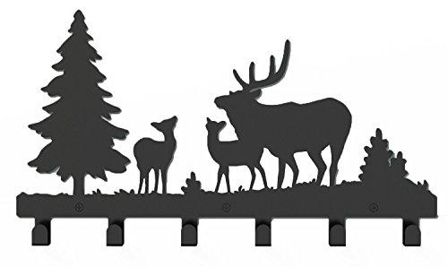 Wander agio animale gatto ragazza Appendiabiti da parete Hanger Gioielli Abbigliamento Gioielleria Ganci per bar, Christmas Deer, Misura unica
