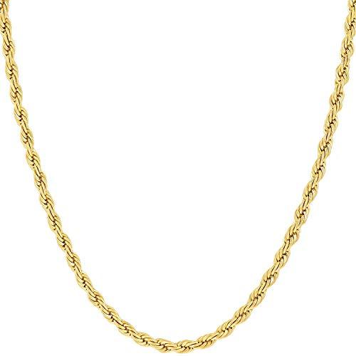 1 - Cadena de oro de 14K de oro amarillo