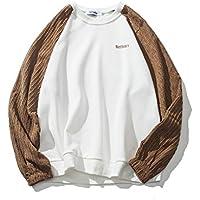 Mosaico hoodies Japanese Camiseta hombre Sweater invierno japonés costura masculina sueter de cuello alto,Blanco,S