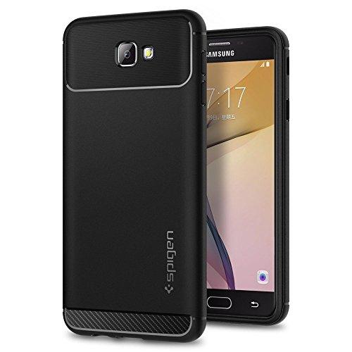 Spigen Rugged Armor Case for Samsung Galaxy J7 Prime  2016  / Galaxy On Nxt/Galaxy On7 2016   Black 570CS21002