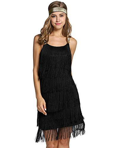 1920er Quaste Kleid Flapper Dress Gastby Kostüm Kleid (1920er Jahre Tanz Kostüme)