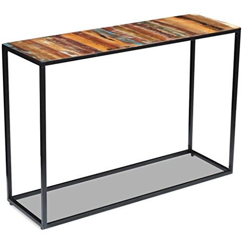 Festnight- Konsolentisch Sideboard | aus Recyceltes Holz und Stahlrahmen | Beistelltisch 110 x 35 x 76 cm | Für Wohnzimmer Schlafzimmer oder Flur