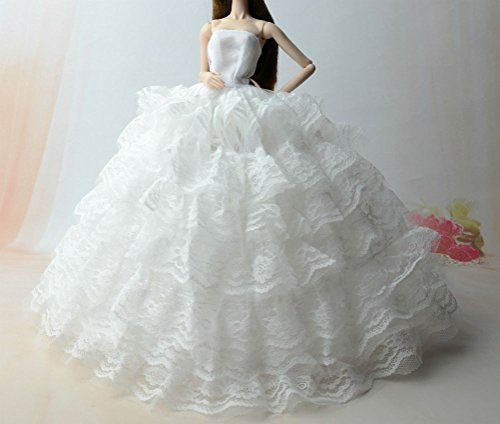 Mode magnifique robe de soirée à la main pour la poupée Barbie robes / vêtements /robe de poupée