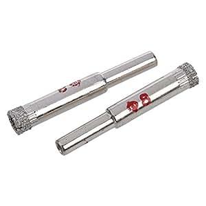TOOGOO(R) 2 x 8mm Diametre Outil de coupe Foret diamante de verre de marbre ou de ceramique