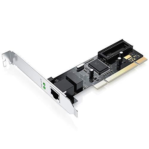 CSL - Gigabit LAN PCI Netzwerkkarte Fast Ethernet Adapter 10 100 1000 DSL Realtek | Full-Duplex | 32 Bit | PCI Bus 2.2 -