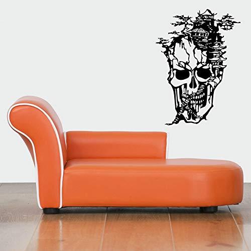 dtattoo Schlafzimmer Halloween-Aufkleber-Tempel-Schädel-Auto-Abziehbild Plakate Pegatina Quadro Dekor für Spielzimmer ()