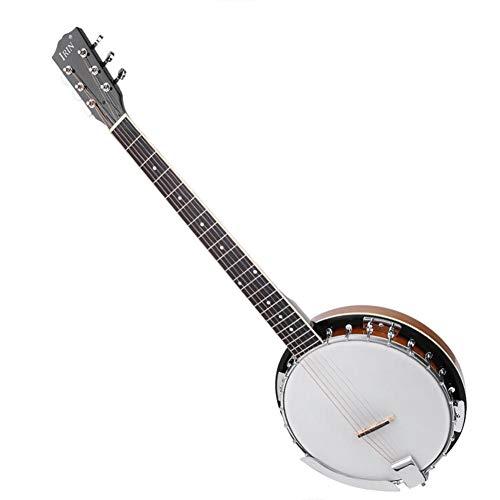 Drfeify 6 Saiten Banjo Instrument, PVC Surface Banjo mit Ethereal Sound für Banjo Player