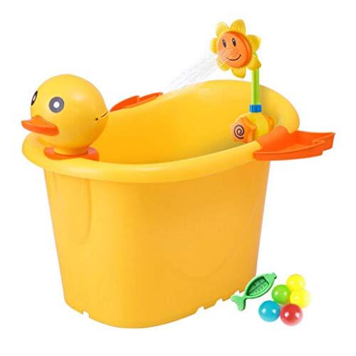 HQCC Kinderbadewanne Cartoon Ente Styling Badewanne Baby Dusche Eimer (gelb)