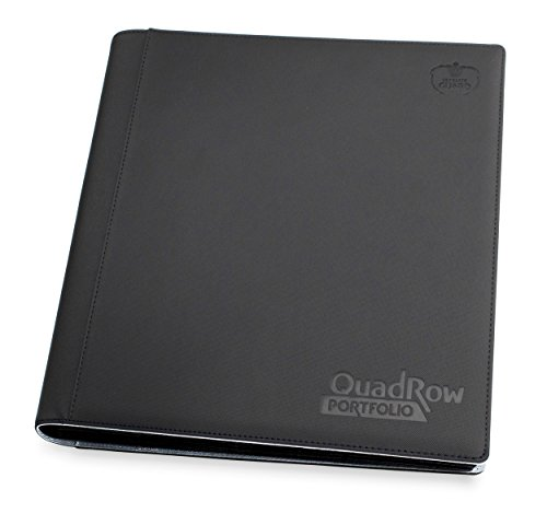 Ultimate Guard UGD010423 - 12-Pocket Quad Row Portfolio Xeno Skin, schwarz