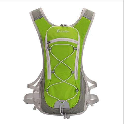 Outdoor Reiten Wasser Tasche Rucksack, Fahrrad Tasche Reiserucksack, Herren Multifunktions große Kapazität Wandern Fahrrad Wasser Tasche Rucksack,Green