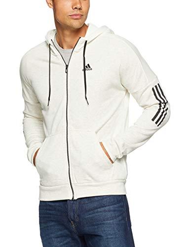 adidas Herren Sports ID Logo Full Zip French Terry Kapuzen-Sweatshirt Melange/Off White, M