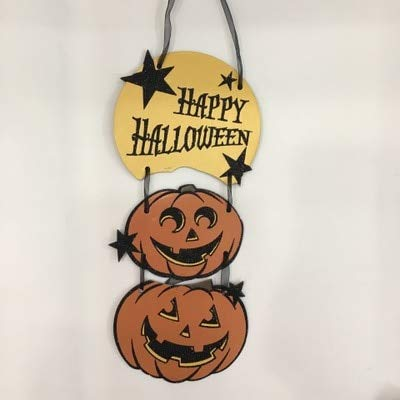 WSCOLL 1 STÜCKE Halloween Dekorationen Skeleton Kürbis Ghost Bat Tri-Linked Papier Anhänger Ornamente Party Bar DIY hangtag - Tris Kostüm Tattoo