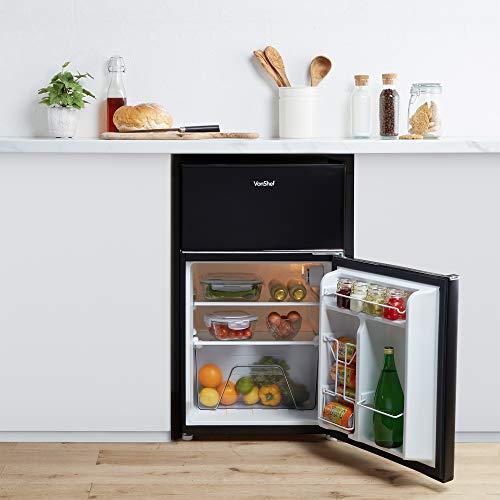 41muGnHaD4L. SS500  - VonShef 85L Freestanding Under Counter Fridge Freezer With Reversible Door, Adjustable Temperature Control and Internal…