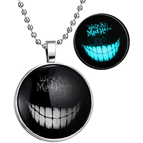 YC–Top Diseño Original Noctilucent Collar Misteriosa Smile All-Match Collar con Colgante