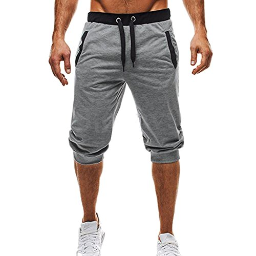 Yying Summer Sweatpants For Men Tracksuit Bottom Comfortable Elasticated Waist Trousers Casual Jogging Yoga Sports Pants Shorts