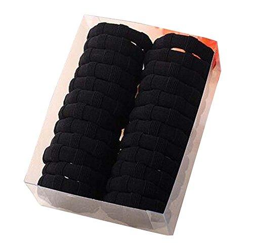 Noir Elastique Cheveux Diapositive Preuve STAYPUT Tie Hair 24 Count
