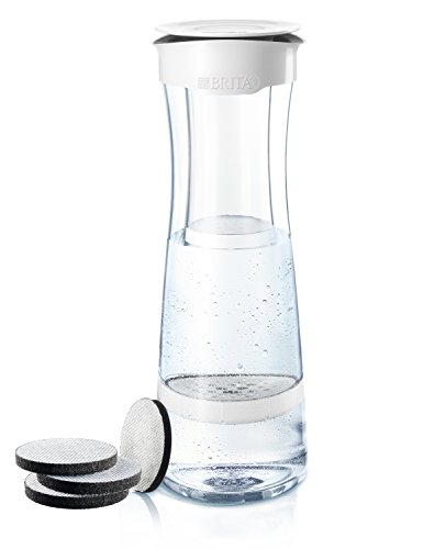 Brita fill&serve Wasserfilter-Karaffe Starterpaket Mind, inkl. 4 MicroDisc, Weiß-grau