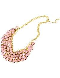 De moda de joyería de moda collar de cadena en cadena Declaración XXL Collier rosa / oro