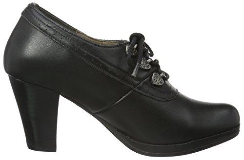 Hirschkogel by Andrea Conti 3009219002, Chaussures à talons avec plateau femme Noir - Schwarz (schwarz 002)