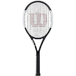 Wilson Raquette de Tennis , Pro Staff Team, Unisexe, pour Joueurs Intermédiaires, Taille de Manche L2, Noir/Blanc, Wr000610U2