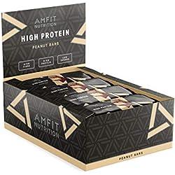 Marque Amazon- Amfit Nutrition Barre protéinée aux cacahuètes, pack de 12 (12x60g)