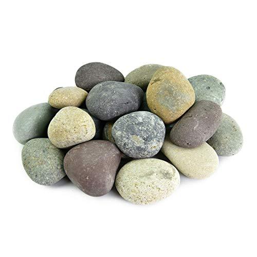 Executive Deals Mexikanische Strandkiesel Dekosteine 20 Pfund gemischt 5,1 cm - 7,6 cm geschliffene ungpolierte Steine für Gartenarbeit, Landschaftsbau, Aquascaping - Geschliffen Stein