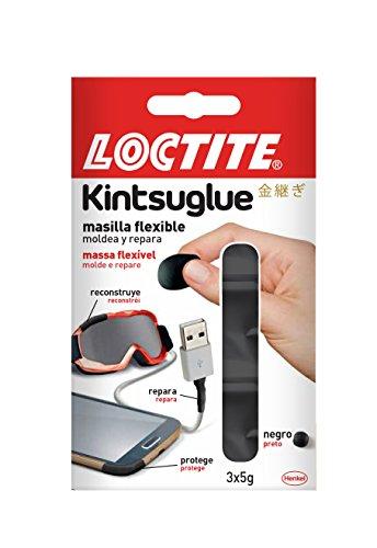Loctite Kintsuglue, masilla flexible, repara, protege, mejora, negro, 3 x 5gr
