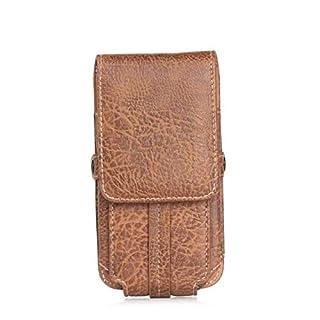 VANSENG vertikale Echtleder Handytasche PU-Lederhandytasche trägt eine Gürteltasche aus Leder und eine Gürtelschnalle Für iPhone, Android, Samsung und andere Smartphones (Brown 5,2-5,5)