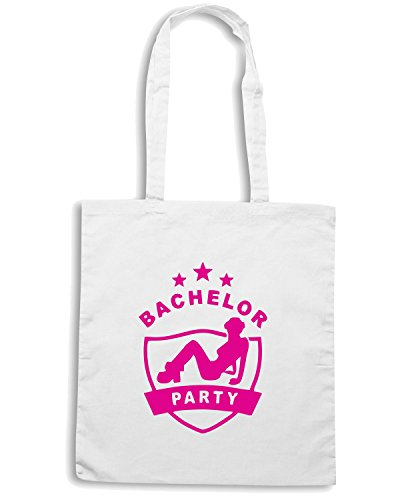 T-Shirtshock - Borsa Shopping MAT0006 Bachelor Party Crest Maglietta Bianco