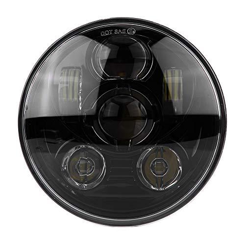 """KIMISS 5-3/4 5.75\""""Faro LED rotondo Moto 45W Faro proiettore faro per Harley Davidson 883-Black(nero /)"""