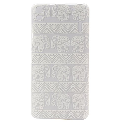 "Voguecase® Para Lenovo K3 Note K50-T5(5.5""), Funda Carcasa Duro Tapa Case Cover(elefante Encaje) + Gratis aguja de la pantalla stylus universales"
