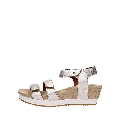 Benvado 37004 Sandalo Donna Pelle Platino Platino 5