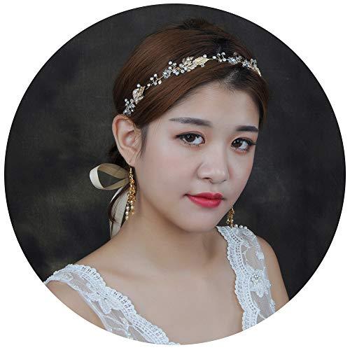 TOPQUEEN Accessoires braut Gold Perle Strass Braut Haarkamm Hochzeit Haarschmuck Tiara Diadem, Schmetterlinge (HP122)