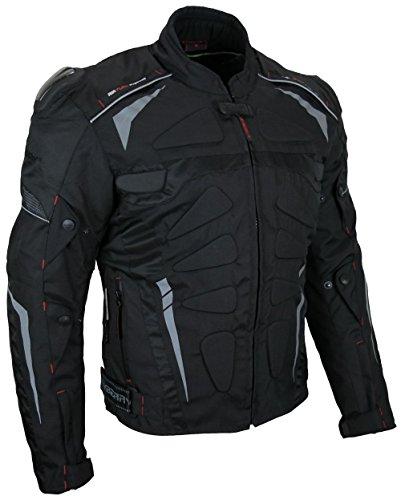 HEYBERRY Kurze Textil Motorradjacke Modell Blizzard Schwarz Gr. XL