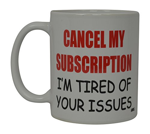 Best Funny Kaffee Tasse My Abo Bin Ich Müde von Your storniert Fragen Neuheit Tasse Witz Gag Geschenk Idee für Herren Frauen Büro Arbeit Erwachsene Humor Mitarbeiter Boss Kollegen (Abonnement)