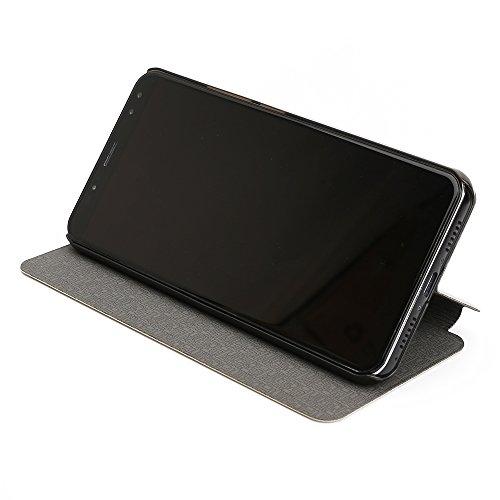 Ulefone Power 3 Power 3S Case Hülle 2 in 1 Flip Hülle Handysocken Schutzhülle Standfunktion Tasche und - Beschützer Smartphone (Schwarz)