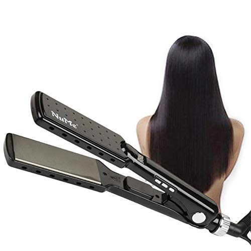 Price comparison product image DANTB Titanium Alloy Straight Extra Wide Plates Advanced Ceramic Hair Straightener Salon Fast Hair Styler