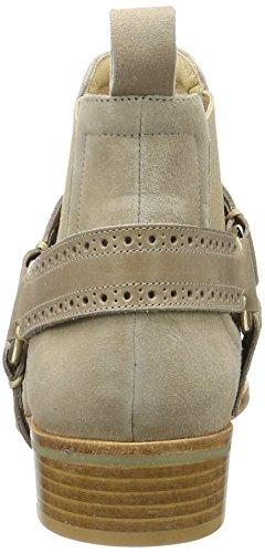 GARDENIA COPENHAGEN Round Toe Flat Boot, Stivaletti Donna Marrone (Suede Cognac)