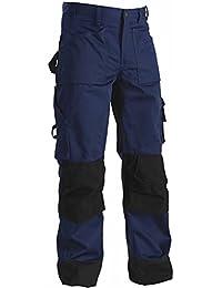 Blakläder 152318608999C48 Pantalon artisan bicolore Taille C48 Marine Bleu/Noir