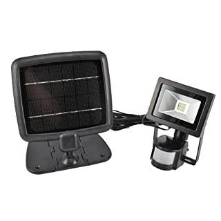 LED Outdoor Light IP65 with PIR Motion Sensor and Solar Panel Charging