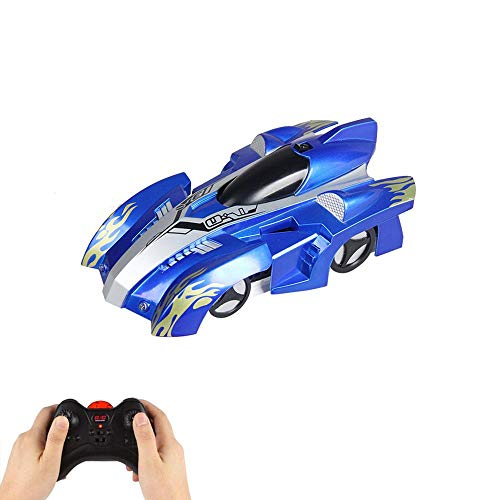 Layopo Wall Climbing Remote Control Car, Recargable Modo Dual 360 ° Rotación Stunt RC Cars LED Head Gravity Desafiando Vehículos para Niños Boy Girl Adolescentes Adultos Regalos de Cumpleaños