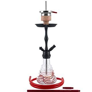 AMY 440 Stillness II Klick Shisha Wasserpfeife (Rot Schwarz matt)