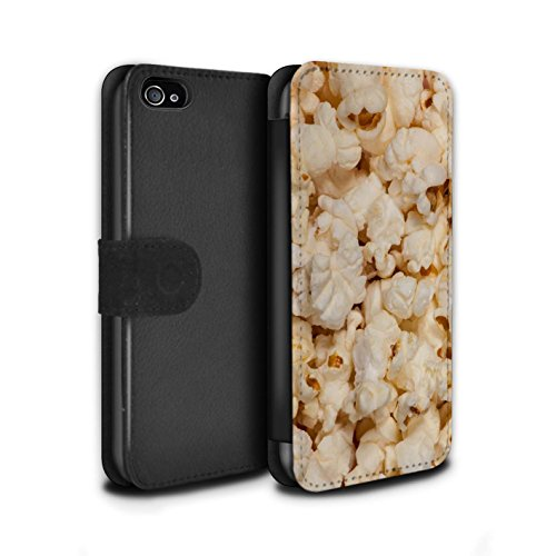 �lle/Case/Tasche/Cover für Apple iPhone 4/4S / Popcorn Muster/Imbiss Kollektion ()