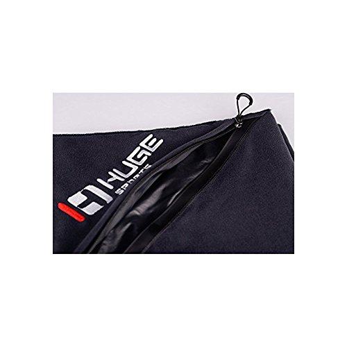 Hugh Sports Anti-Rutsch-Yoga-Handtuch ideal für Sport, Fitness, Turnhalle, mit wasserdichter Tasche Schwarz