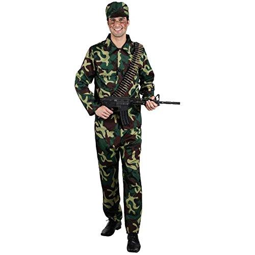 Militär Armee Soldat Camouflage Männer Verkleidung Halloween Karneval Kostüm (Halloween Männer Kostüme Army)